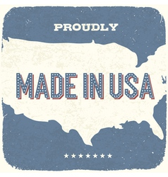 proudly made in the usa vector image vector image