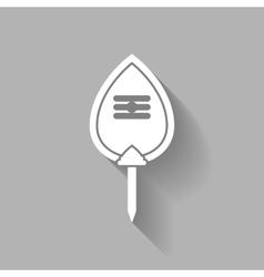 Symbol thaipusam white vector