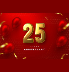 25 years anniversary celebration banner vector