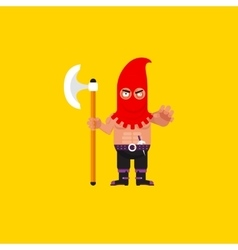 a executioner character for halloween vector image