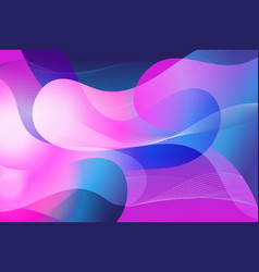 abstract bright colorful background with waves vector image