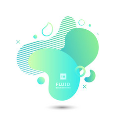 Abstract green fluid graphic shape elements vector