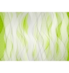 Abstract green white wavy background vector