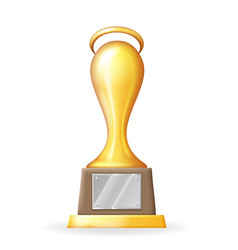 award cup victory prize realistic 3d trophy icons vector image