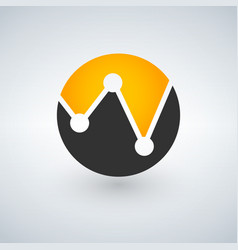 bank or finance organization letter w logo vector image