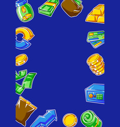 Banking frame with money icons business concept vector