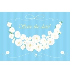 Beautiful garland of white flowers vector