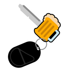 Beer shaped key icon vector