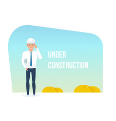building being under construction templates vector image
