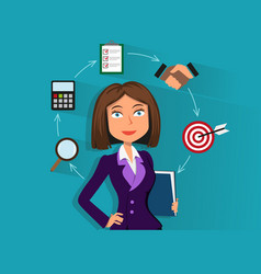 businesswoman with documents vector image