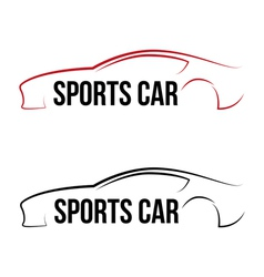 Calligraphic sport car logo vector