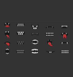 cartoon mouth set vector image