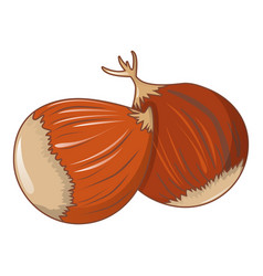 Chestnut icon cartoon style vector