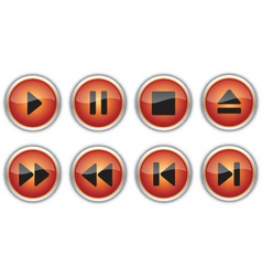 control navigation button icons vector image