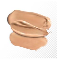 cosmetic concealer smear strokes tone cream vector image
