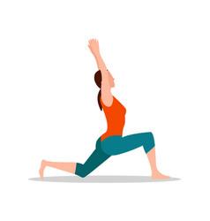 crescenet lunge pose of yoga vector image