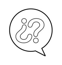 customer service speech bubble question converse vector image