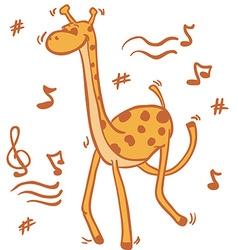 dancing giraffe vector image