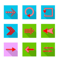 design of element and arrow symbol set of vector image