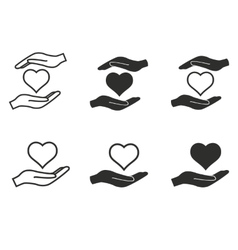 Donate icon set vector image