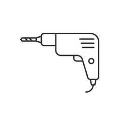 Drill outline icon vector