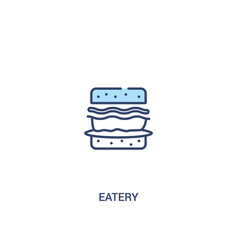 Eatery concept 2 colored icon simple line element vector