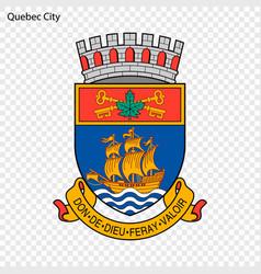 Emblem of quebec city vector