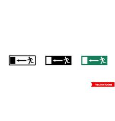 escape symbol icon 3 types color black and vector image