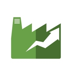 Factroy industry arrow green plant icon vector