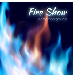 Fire show poster Abstract red and blue burning vector image