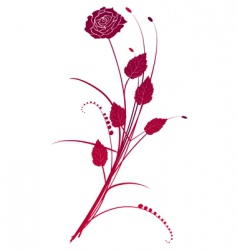 Floral background red roses bouquet vector image