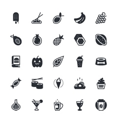 food vegetables icons 4 vector image