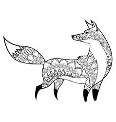 fox mandala icon vector image