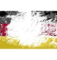 Germany flag Grunge background vector image vector image