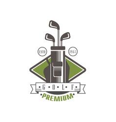 Golf premium logo estd 1965 retro label for golf vector