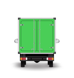 green truck icon vector image