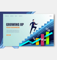 growing company website landing page design vector image