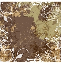 grunge background with patterns vector image