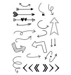 Hand drawn arows set vector