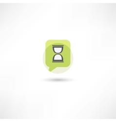 hourglass in green bubble speech vector image