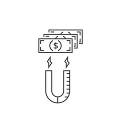 Investments and profits concept line icon vector