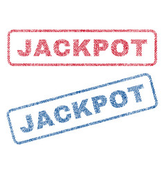 Jackpot textile stamps vector