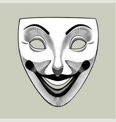 joker mask in retro style vector image