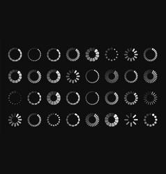 loading sign symbol progress bar vector image