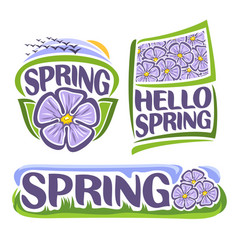 Logo of spring flowers vector