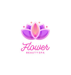 lotus flower logo design beauty spa logo template vector image