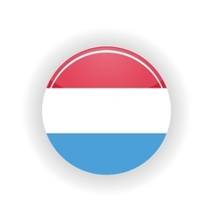 Luxembourg icon circle vector
