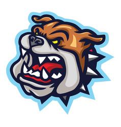 Mad bulldog logo mascot vector