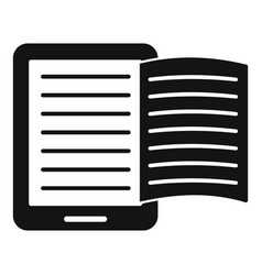Magazine ebook icon simple style vector