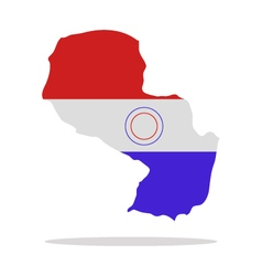 map paraguay vector image